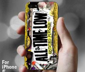 AJ 005 All Time Low Nothing Personal - iPhone 5 Case