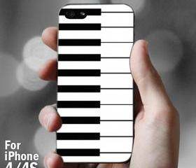 AJ 092 Piano nots pattern - iPhone 4/4s Case